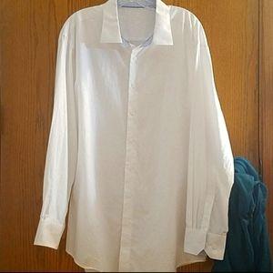 Bugatchi Uomo white button down shirt